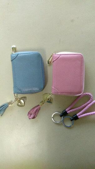 卡包女式多卡位牛皮大容量卡夹防盗刷卡片包 钱包夹 银行卡套 60卡位-熏衣紫{防盗刷+防消磁} 晒单图