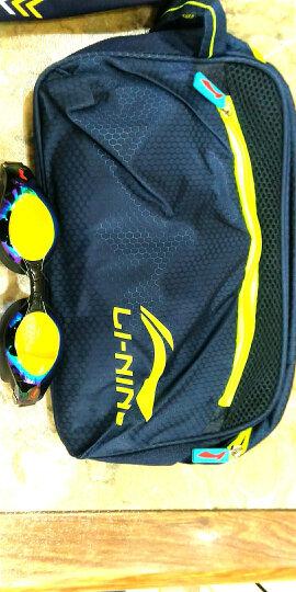 李宁(LI-NING)泳裤套装 泳镜泳帽 近视泳镜套组 LSJK666-1黑色 黑色550度 XL 晒单图
