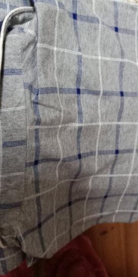 诺盾睡衣男士秋冬季长袖纯棉翻领长裤家居服两件套装 41024 L 165-175cm 110-125斤 晒单图