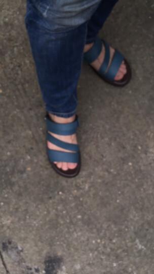 红蜻蜓凉鞋男鞋夏季新款男士户外沙滩鞋休闲透气防滑真皮凉拖鞋子5867 土黄【5867】 41 晒单图