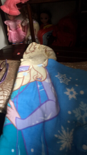 迪士尼(Disney)毛巾家纺 儿童连帽浴巾 A类纯棉 宝宝斗篷披风 柔软纱布材质 冰雪奇缘女王Elsa 60X120CM 晒单图
