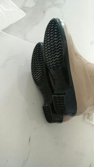 回力雨鞋女士短筒雨女式防水鞋中筒成人水靴胶鞋套鞋 墨绿 39 晒单图