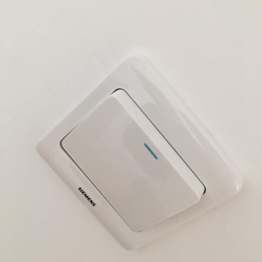 西门子(SIEMENS)开关插座 一开单控带荧光面板 86型暗装面板 远景雅白色 晒单图