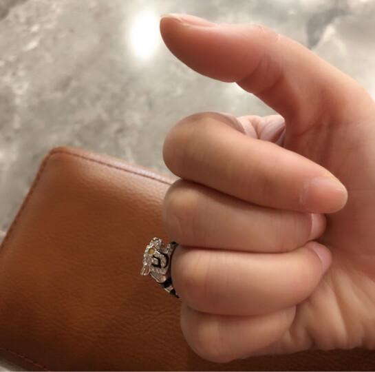 MyMiss 十二生肖戒指 女食指开口 925银镀铂金指环 情人节礼物 情侣送礼 银饰品 生日礼物 虎 晒单图
