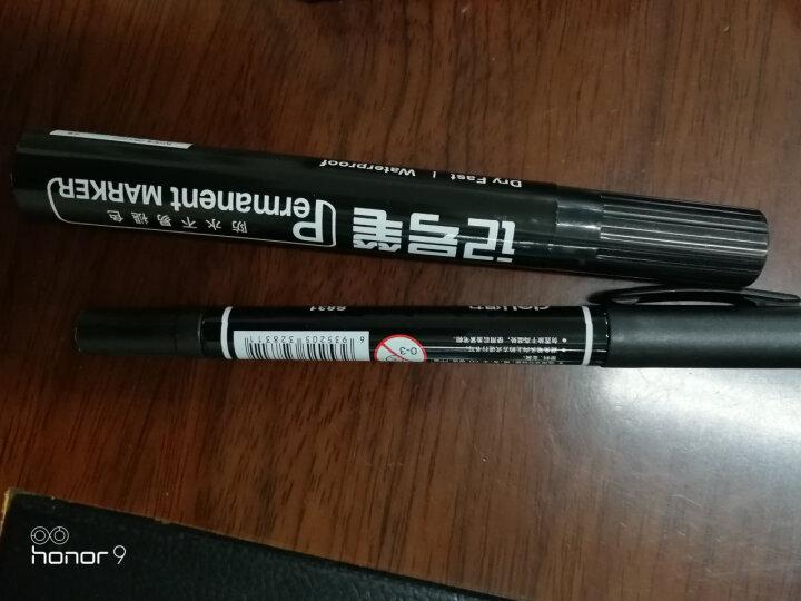 得力(deli)油性粗头记号笔物流黑色大头笔 签名笔马克笔10支/盒6821 办公用品 晒单图