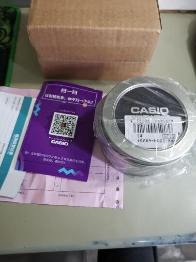卡西欧(CASIO)学生手表男 运动防水儿童表 白盘黑色橡胶带MRW-200H-7B 晒单图
