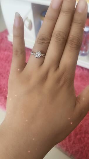 佐卡伊 邂逅 钻戒钻石结婚女戒求婚戒指 80分效果D-E/VVS 12#13#现货 晒单图