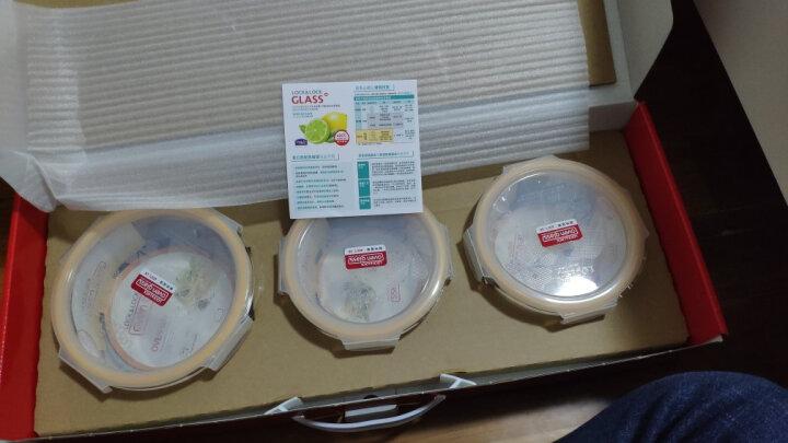 乐扣乐扣(LOCK&LOCK) 保鲜盒 微波炉饭盒玻璃便当盒四件套(500ml+630ml+750ml+1000ml) LLG445S910 晒单图