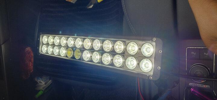 优玛车灯汽车led越野长条射灯强光灯前杠中网灯车顶越野辅助大功率LED车灯 240W长度51.7厘米送线组开关 晒单图