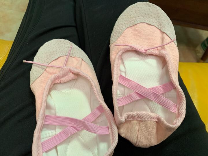 艾舞戈儿童舞蹈鞋女童芭蕾舞鞋成人体操鞋现代舞练功鞋软底粉瑜伽猫爪鞋 标准-粉色 29 晒单图