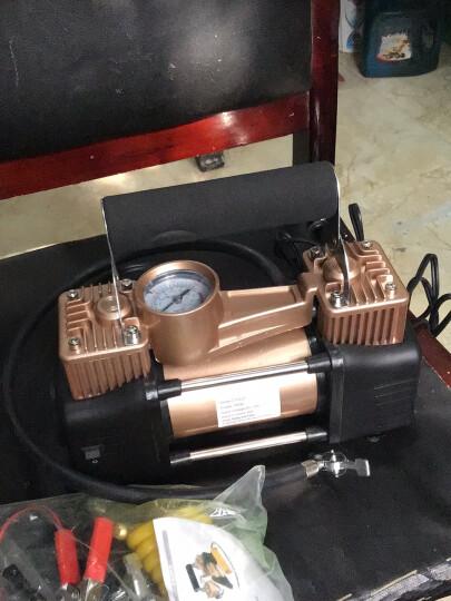 沿途车载充气泵金属双缸车用轮胎电动12V便携胎压监测汽车摩托车打气泵补气泵 双30缸-数控预设胎压-黑色工具箱版 晒单图
