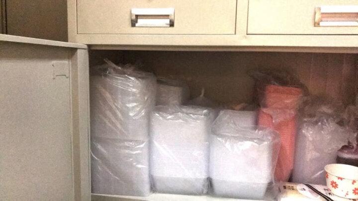 喇叭花1000ml一次性外卖盒 方形透明打包饭盒 送餐盒 食品盒 保鲜盒100个 寿司盒 晒单图