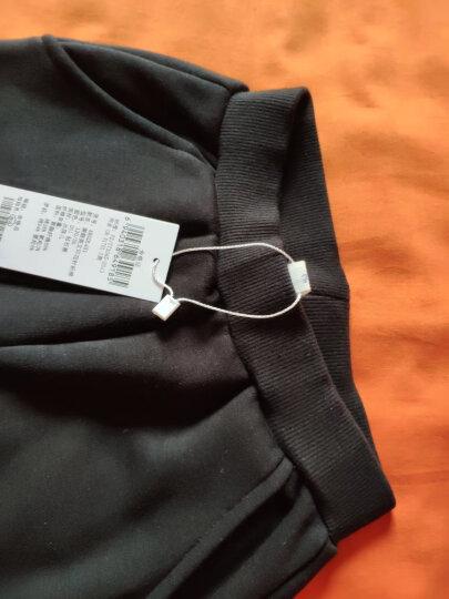 水孩儿(SOUHAIT) 童装秋冬装女童裤子一体绒保暖裤儿童针织厚款长裤AKGDL451 钻石黑 160 晒单图