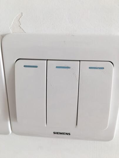 西门子(SIEMENS)开关插座 三开双控带荧光面板 86型暗装面板 远景雅白色 晒单图
