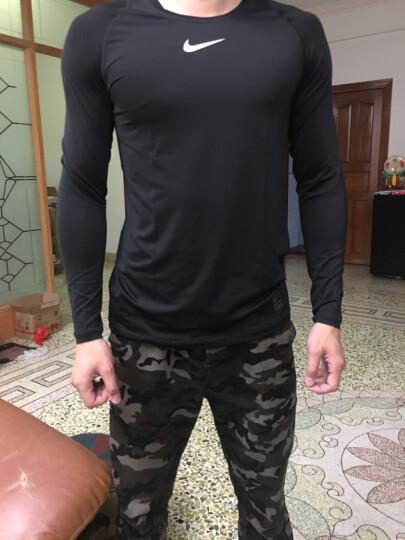 耐克紧身衣 T恤男 Nikepro 训练T恤 健身运动服训练服703095 长袖 速干材质黑色838082-010 L/175/92A 晒单图