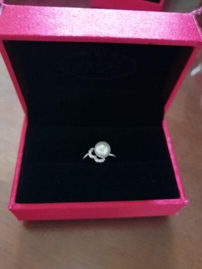爱芙尔 天然淡水珍珠戒指女 爱心 925银戒指 韩版时尚锆石食指戒 白色单颗珍珠女戒 17号(手指周长56.5mm) 晒单图
