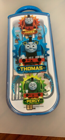 托马斯&朋友(Thomas&Friends)儿童餐具三件套宝宝筷子勺子叉子 赠收纳盒 便携式不锈钢勺叉套组 5237TM 晒单图