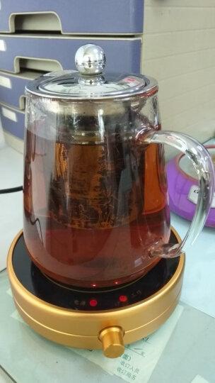雅集恒温宝 茶壶茶杯保温底座 茶具保温茶座 合金电热杯垫 大功率热奶器 金色 晒单图
