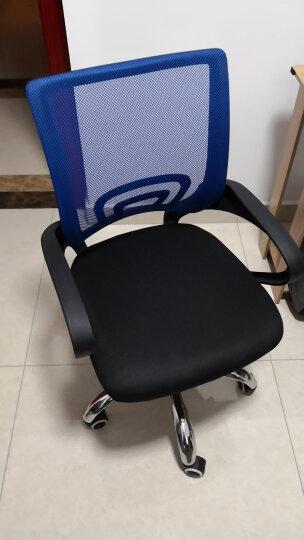 欧奥森 椅子 办公椅电脑椅家用网椅升降旋转会议椅透气老板主播椅学习培训靠背椅人体工学书桌职员弓形凳子 S104-07-绿黑色弓形 晒单图