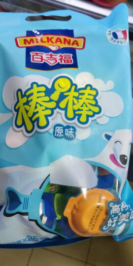 百吉福(MILKANA)棒棒奶酪 原味 500g/25粒装 儿童高钙健康休闲零食 晒单图
