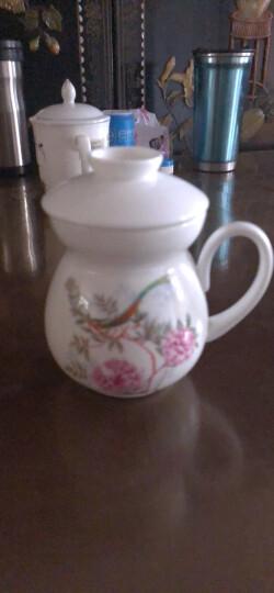 玛戈隆特 新中式中国花园滤茶杯茶水分离杯 中国风骨瓷情侣马克杯 带盖杯 礼盒 中国花园 晒单图
