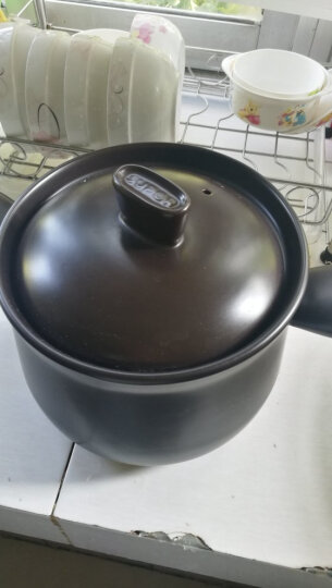 苏泊尔(SUPOR)砂锅4.5L陶瓷锅煲汤锅养生瓦罐炖煮锅石锅煎药壶燃气灶炖盅TB45A1 晒单图