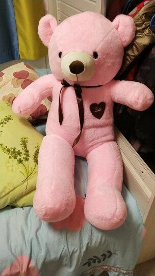 熊猫公仔大号泰迪熊公仔女孩毛绒玩具大熊布娃娃抱抱熊玩偶睡觉抱枕送女友生日礼物 棕色简爱熊 1米 晒单图