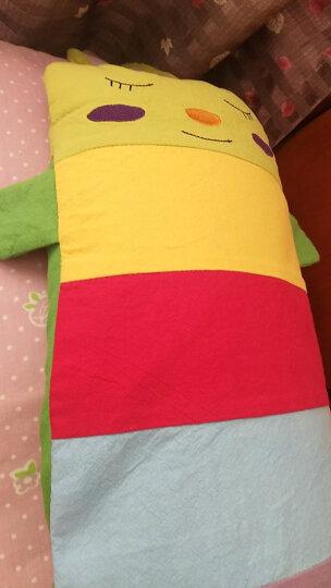 双漫卡通儿童枕套 婴儿枕头套 供换洗 兰花紫 加长号枕套25*56 晒单图