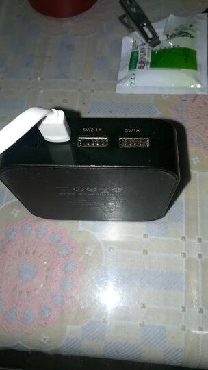 aigo爱国者电子出品充电宝OL10400小巧便携10000毫安时移动电源 双USB输出 适用于华为小米苹果 黑色 晒单图