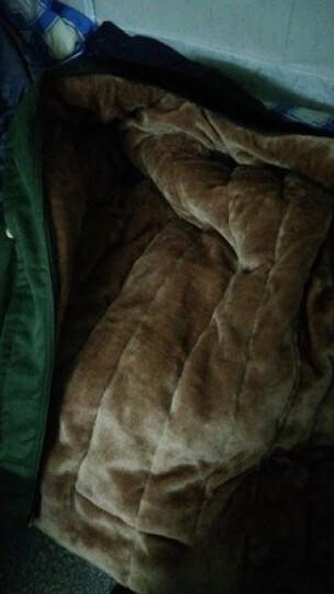 驮郎 正品新款加厚军大衣男女加长加绒绿大衣保安大衣冷库保安服棉大衣执勤棉服可拆洗内胆均码 军大衣绿色毛【均码】 晒单图