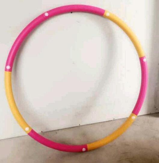 米客 男女呼啦圈韩式成人软指压可拆卸海绵健身弹簧健身运动器材家用 橙红色 2磅 晒单图
