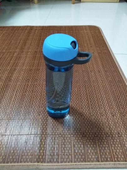 茶花水杯塑料便携随手杯创意杯子带盖学生净水吸管运动水壶 700ML樱花粉  带过滤芯 晒单图