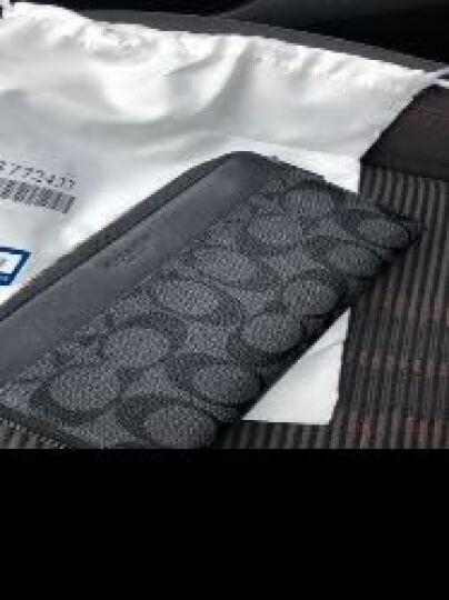 COACH 蔻驰 奢侈品 男士黑灰色PVC配皮长款钱包钱夹 F58112 CQ/BK 晒单图