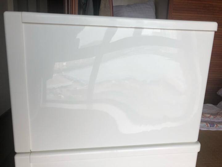 【沃尔玛】Tenma 组合式抽屉柜 收纳柜 fits衣物收纳箱 透明塑料储物箱 45*45*30cm 晒单图