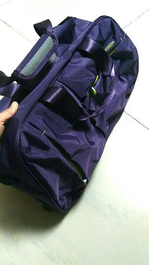 卡拉羊(Carany)拉杆包手提大容量男女行李包可折叠登机旅行包CX8430-0黑色 晒单图