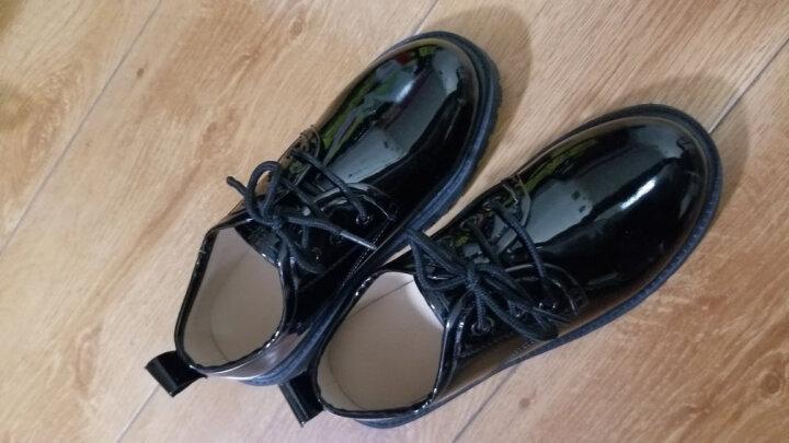 ELPA 新款童鞋男童鞋皮鞋亮面漆皮系带儿童礼服皮鞋演出鞋子 黑色棉鞋 29 晒单图