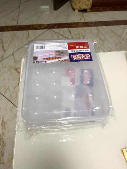 家の物语 日本加厚可叠加24格带盖鸡蛋盒冰箱保鲜盒塑料收纳盒 2个装 晒单图