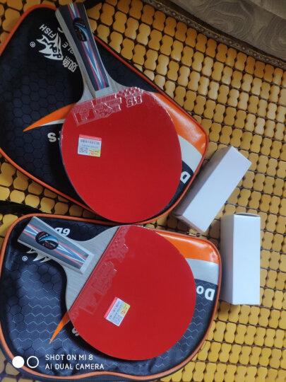 双鱼乒乓球拍直拍单拍 6星六星兵乓球拍 6D-E短柄 赠拍套 晒单图