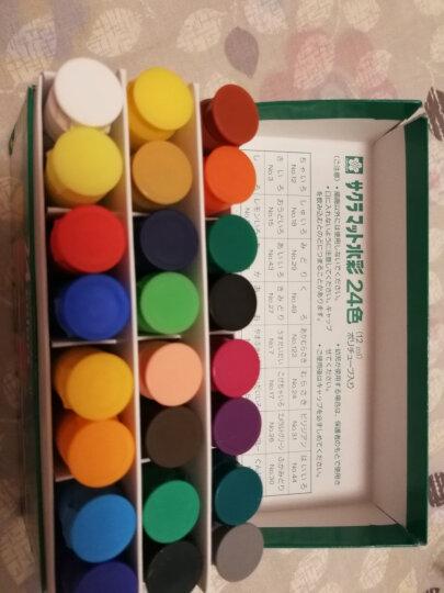 日本樱花(SAKURA)水彩颜料美术绘画 24色透明水彩套装绿盒 MW24PE 12ml/支【日本进口】 晒单图
