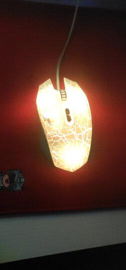达尔优(dareu)升级版游戏鼠标白色  类肤材质  六色呼吸灯  有线鼠标 晒单图