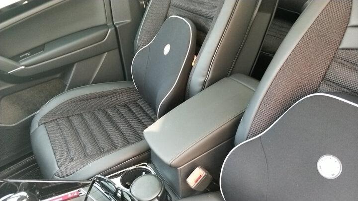 GiGi汽车腰靠 车用办公室座椅腰枕 太空记忆棉车用办公用荣耀靠垫 腰靠枕GT-06咖色 晒单图