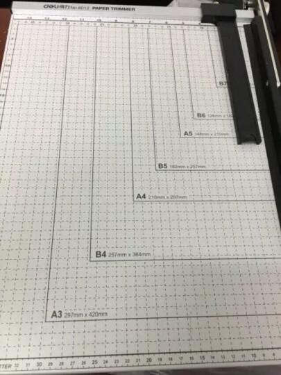 得力(deli) 8011 钢质切纸机/切纸刀/裁纸刀/裁纸机 530mm*410mm 晒单图