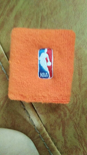 NBA 篮球护腕(2只装)毛圈跑步健身吸汗擦汗运动护腕 弹力精梳棉透气型羽毛球护手腕 橙色N5XW1001M-D 均码 晒单图