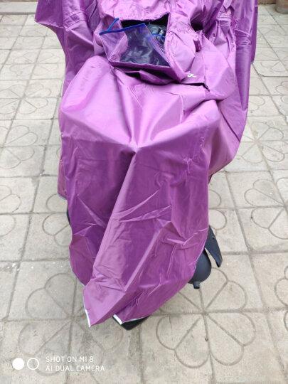 五羊WUYANG双人雨衣摩托车电动车加大码自行车雨披男女士单人户外旅行骑行大帽檐雨衣 709双人提花枣红XXXXL 晒单图
