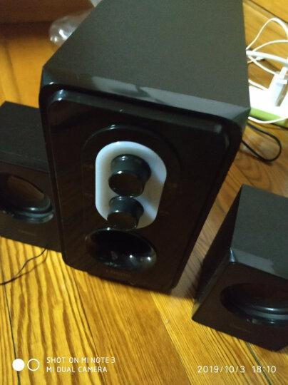 恩科(ENKOR)E50 笔记本电脑2.1组合音响低音炮 台式多媒体木质音箱 绿色 晒单图
