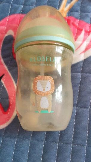 可拉贝拉 婴儿超宽口径奶瓶ppsu材质带吸管手柄防摔奶瓶套装 耐高温防漏无异味 绿色奶瓶280mL配Y孔 送4件套 晒单图