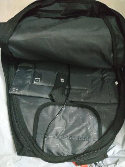 CROSSGEAR 防盗系列 双肩包男商务15.6英寸笔记本电脑包 USB大容量防泼水旅行包书包 CR-1590I 黑色 晒单图
