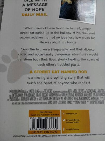 一只名叫鲍勃的流浪猫 英文原版 A Street Cat Named Bob 街猫 晒单图