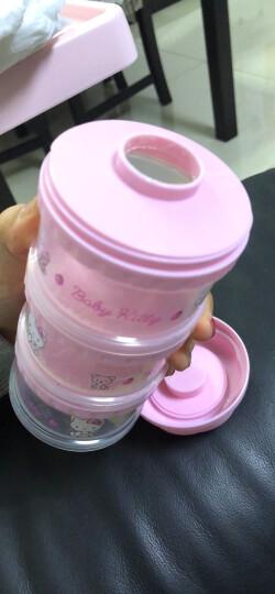 凯蒂猫(hellokitty) 奶粉盒便携婴儿奶粉盒大容量宝宝奶粉格储存盒分装盒原装进口 粉色三层KT-3084 晒单图
