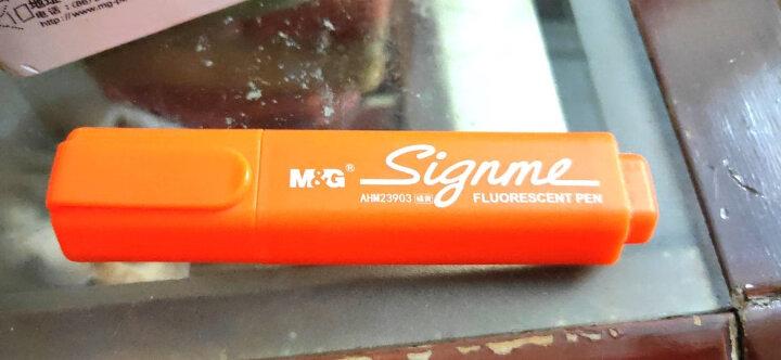 晨光(M&G)文具赛美单头6色荧光笔迷你重点标记记号笔 6支/盒AHM23903 晒单图